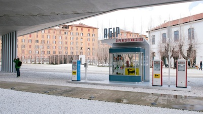 Energy exhibition_MAXXI_%22F%22 model city gas station from the 1950s. Loaner Walter Berselli